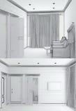 3d skissar av en inrebrunnsort Fotografering för Bildbyråer