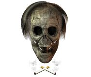 3D skull with cigarette Royalty Free Stock Images