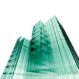 3d skyscrapers Stock Photography