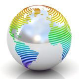 3d sliced globe. Stock Images