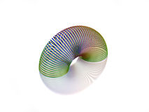 3D Slinky toy Stock Images