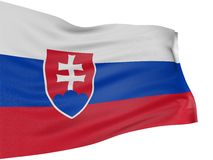 3D Slovak flag Stock Photo