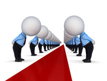 Free 3d Small People Around Red Carpet. Royalty Free Stock Photography - 23555967
