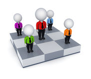 3d small people on a chessboard. Royalty Free Stock Photography