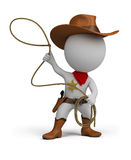 3d small people - cowboy Royalty Free Stock Photo