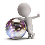 3d small people - disco ball Stock Photo