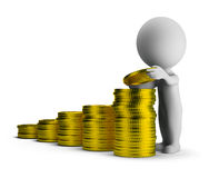 3d small people - financial success Stock Photo