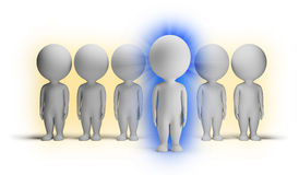 3d small people - indigo Stock Images