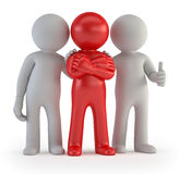 3d small people - leader of a team. Well when there is a leader in the team Royalty Free Stock Images