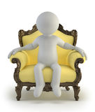 3d small people - luxurious armchair Stock Photo