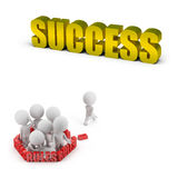 3d Small People - Rules And Success Royalty Free Stock Image