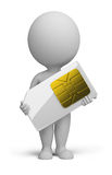 3d small people - sim card Stock Images