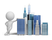 3d small people - skyscrapers Royalty Free Stock Photo