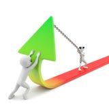 3d small people - statistics improvement! stock illustration