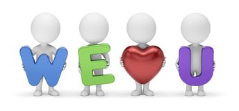 3D Small People - We Love You Royalty Free Stock Photos