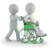 3d small people - Wheelchair Royalty Free Stock Photography