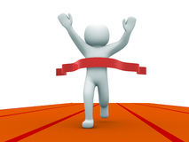 3d small people the winner Stock Images