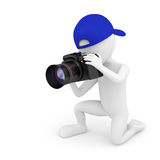 3d small person photographer. Royalty Free Stock Images