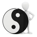 3d small person - yin yang. Stock Images