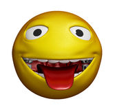 3D Smiley Stock Photo