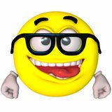 3D Smiley. 3D Render of an Toon Smiley Royalty Free Stock Images