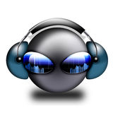 3d smiley DJ Fotos de Stock Royalty Free