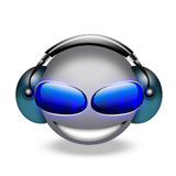 3d smiley DJ Immagini Stock