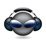 3d smiley dj - vector Stock Images
