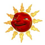 3D Smiling sun Stock Photography