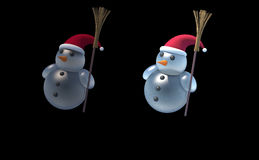 3d sneeuwman Stock Foto's