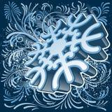 3D sneeuwvlok Royalty-vrije Stock Afbeeldingen