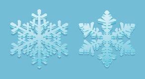 3D-sneeuwvlokken Royalty-vrije Stock Afbeeldingen