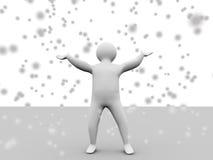 3d snow vector illustration