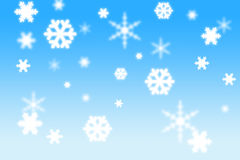 3d Snow flakes Royalty Free Stock Photography