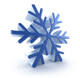 3D snowflake Stock Photo