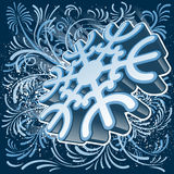 3D snowflake Royalty Free Stock Images