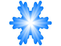 3d snowflake Royalty Free Stock Photo