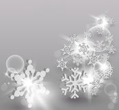 3D Snowflake concept background Royalty Free Stock Images