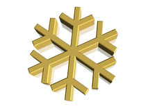 3D Snowflake Snow Flake. Symbol Royalty Free Stock Photo
