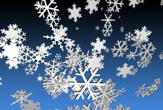 3d Snowflakes Stock Photos