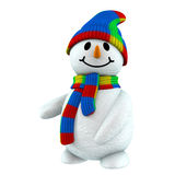 3d snowman point at Royalty Free Stock Photography