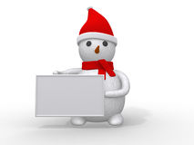 3d snowman with santa claus Stock Images
