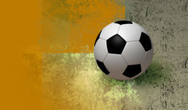 3D soccer and background. Fun football on texture colors background. illustration 3d model Royalty Free Stock Photography