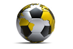 3d soccer ball. With extruded continents vector illustration
