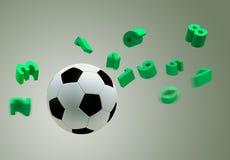 3D soccer ball Royalty Free Stock Photos