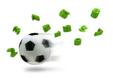 3D soccer ball Royalty Free Stock Photography