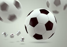 3D soccer ball. 3D soccer and football with number 2012 Vector Illustration
