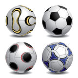 3d Soccer Balls Royalty Free Stock Image