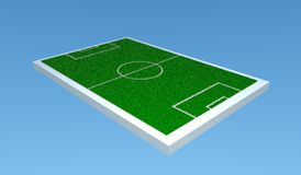 3d soccer field. Ready to use for designers and publishers Royalty Free Stock Photo