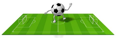 3D Soccer/ Football Concept Stock Images